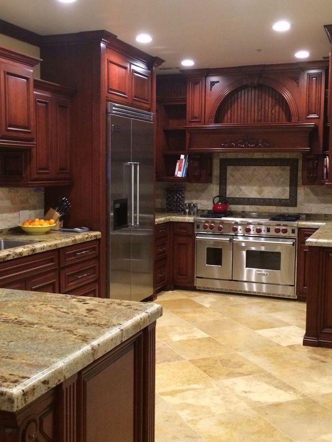 40+ Cherry Wood Kitchen Cabinets Options 265 - Dizzyhome.com