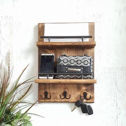 37+ Entryway Coat Hook Mail Key Holder Shelf